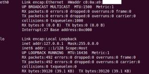 ifconfig ubuntu output