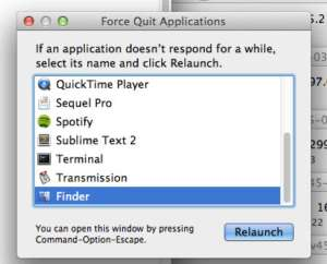 Restart Finder on MAC | PingBin